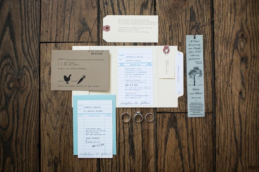 Library Inspired Smog Shoppe Wedding